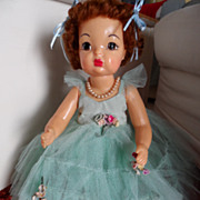 SALE Vintage Terri Lee Doll Dressed in Full Length Formal