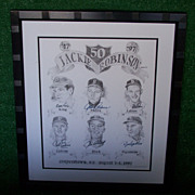Pencil Signed and Numbered Limited Edition #67 OF 400 Lithograph Celebrating Jackie Robinson a