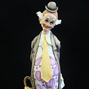 "SOLD Giuseppe Armani Figurine ""The Tender Clown"" #217E Capodimonte Statue"