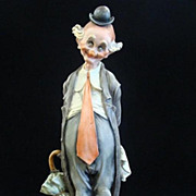 "Giuseppe Armani 1980 Figurine ""The Tender Clown"" #3217E Capodimonte Statue"