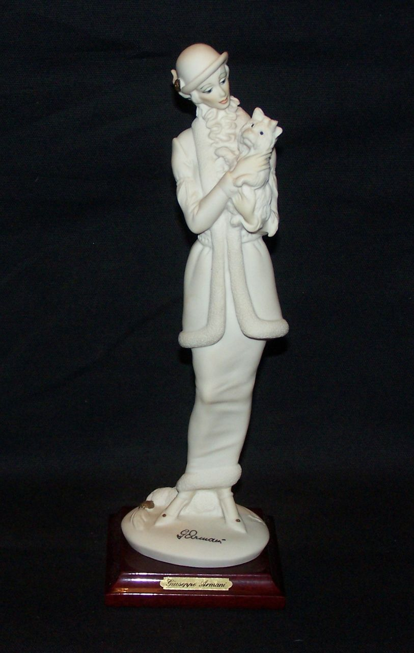 Giuseppe Armani Lady with Dog Figurine 0421-F with Original Box Mint Condition
