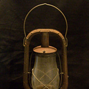 Vintage Dietz Monarch Oil Kerosene Barn or Train Lantern with Original Glass
