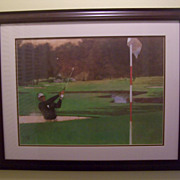 "Bart Forbes ""The Sand Wedge"" Seve Ballesteros Golf Lithograph"