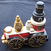 Vintage 1971 Ezra Brooks White Train Decanter #FZ-12