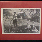 Antique Original Winslow Homer &quot;MAKING HAY&quot; Harper's Weekly July 6,1872