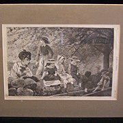 "Antique Winslow Homer ""SPRING BLOSSOMS"" Harper's Weekly May 1870"