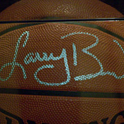 Larry Bird Celtics Signed Regulation Spalding Basketball with COG