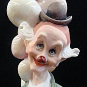 Giuseppi Armani Clown Large Figurine Titled &quot;The Pensive Clown&quot; with Balloons #268E 