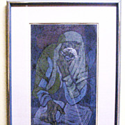 "Vintage Color Limited Edition Irving Amen ""THE PROPHET"" Framed 18 X 11 Pencil Signed"