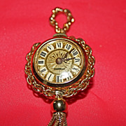 Gorgeous Endura Vintage Watch Pendant Faux Turquoise & Pearls