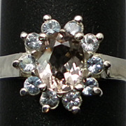 Vintage 14kt Morganite & Aquamarine Ring; FREE SIZING