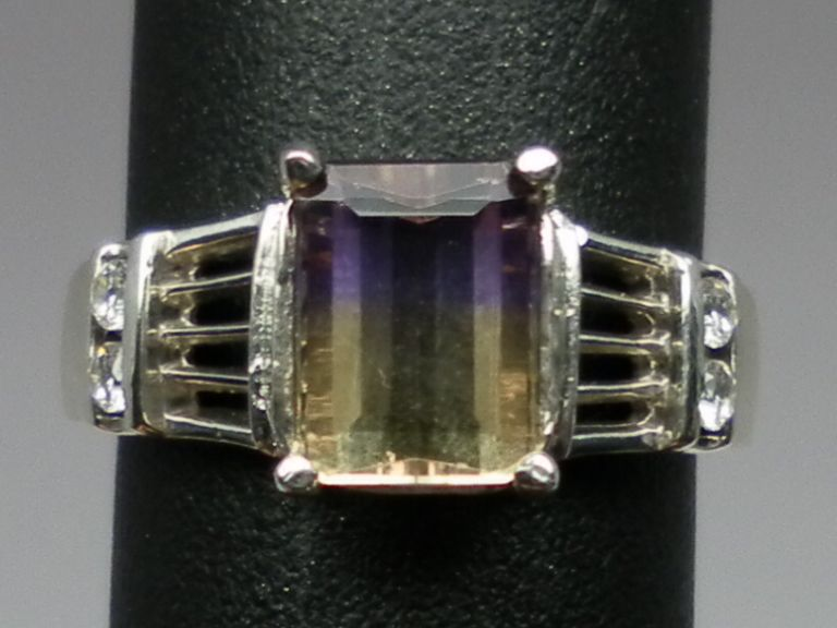 Vintage 14kt Ametrine & Diamonds Ring; FREE SIZING