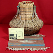 SALE Native American Cherokee Basket and Chimayo Weaving