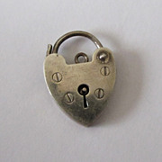 Vintage English Sterling Heart Padlock