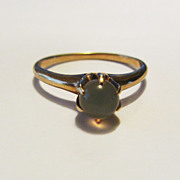 Beautiful Vintage 14k Claw Set Moonstone Orb Ring
