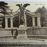 Vintage Original Titanic Postcard-Titanic Memorial, Southampton-postally used-circa: 1918