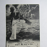 SOLD Vintage Original Titanic Postcard-Nearer My God To Thee-Bamforth & Co circa: 1913