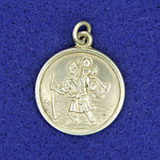 English Saint Christopher Silver Medal circa 1930