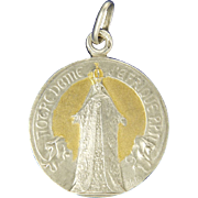 French Silver Gilt 'Our Lady of Africa' Medal Pendant - signed A Sal�s