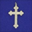 Victorian Sterling Silver and Engraved Cross Pendant