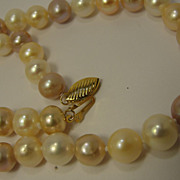 14K 9MM Pearl Necklace