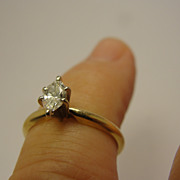 14K Marquise  Diamond Ring