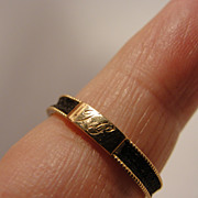 Antique Memorial Hair Ring 14K