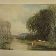 Sydney J. Yard Original Watercolor 1855 - 1909