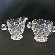 Heisey Whirlpool Sugar and Creamer Set