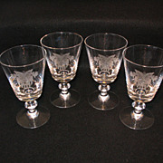 Heisey Yorktown Goblets (4) with West Point Crest