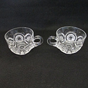 Heisey Sunburst Punch Cups (pair)