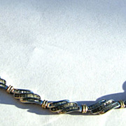 Gorgeous 10k White & Yellow Gold Diamond Bracelet