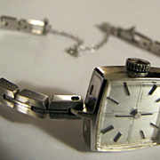 SEIKO SOLAR Watch  White Gold Plate - Rare 1970's