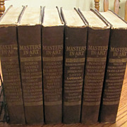 Masters in Art 780+ Monographs Print Plates 6 Book Set 1900's