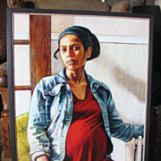 Original Oil Painting African American Woman by Noted Artist