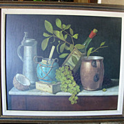 Vintage WILLIAM HARNETT (1891) LITHOGRAPH Print Framed Just Dessert Still Life