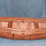 SOLD Vintage Scale Model Birch Bark Canoe