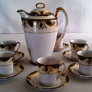 REDUCED Noritake Chocolate Pot Set-Mystery Pattern # 13-RARE