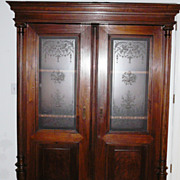 REDUCED Antique Dutch  Cupboard From New York area