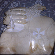 REDUCED Eagle-Indian Stone Carving