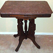 REDUCED Antique Eastlake Marble Top Table