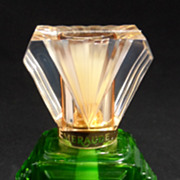 SOLD Coty Emeraude Green Glass Perfume Bottle