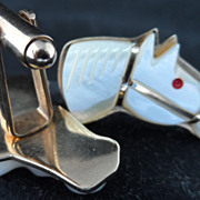 Mother of Pearl Horse Head Cufflinks