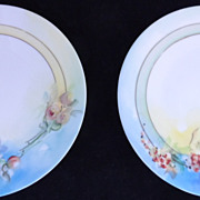 Lovely UNO Favorite Bavaria Hand Painted Plates Signed by Artist