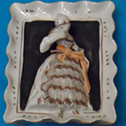 Lovely Porcelain Victorian Style Figurine Wall Hangings