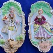 Wonderful Set of Bisque Porcelain Figurine Plaques