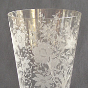 "Cambridge Glass ""Wildflower"" Flip Vase"