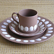 Group of Wedgwood Jasperware, Taupe Brown