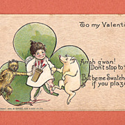 1906 Tuck Valentine Postcard with Irish Theme