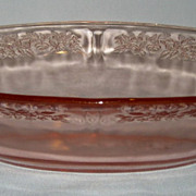 Sharon Pink Depression Oval Vegetable Bowl